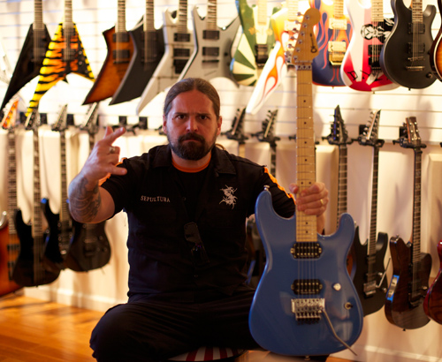 Andreas Kisser with Charvel